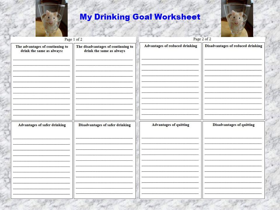 My Drinking Goal Worksheet