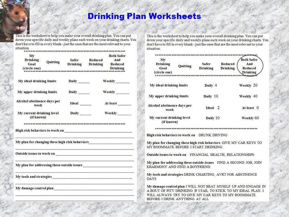 Drinking Plan Worksheets