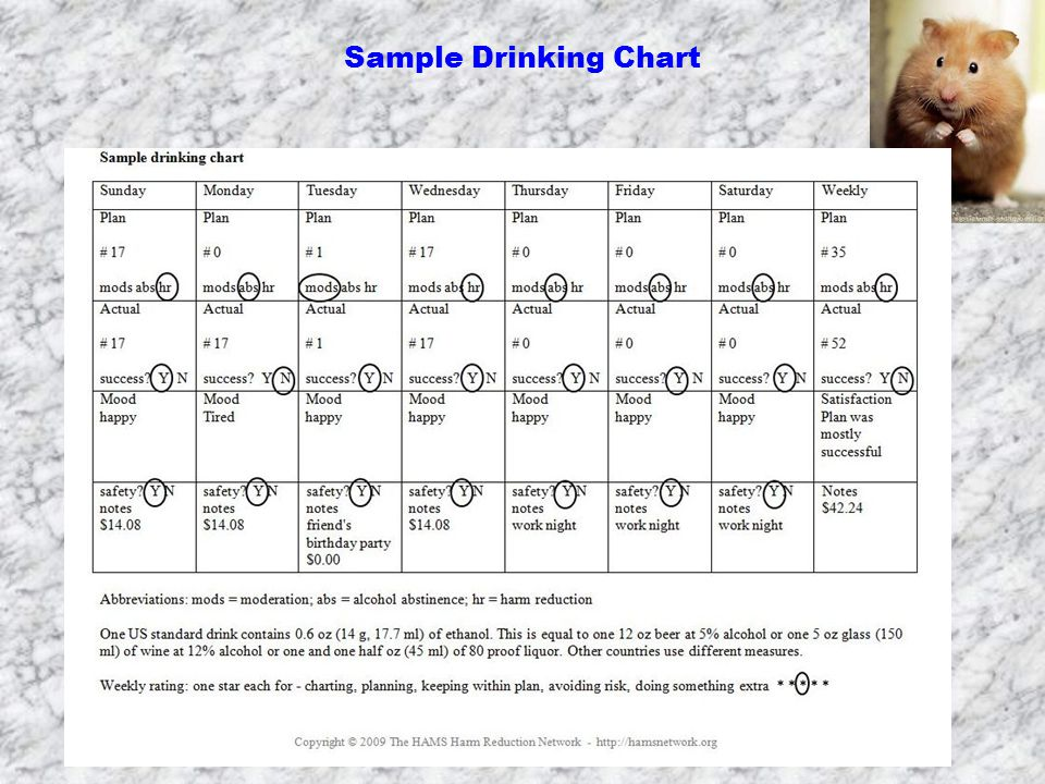 Sample Drinking Chart