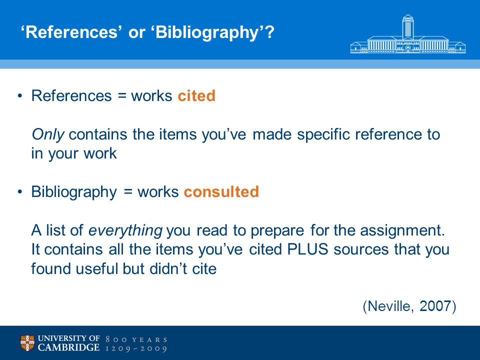 'References' or 'Bibliography'.