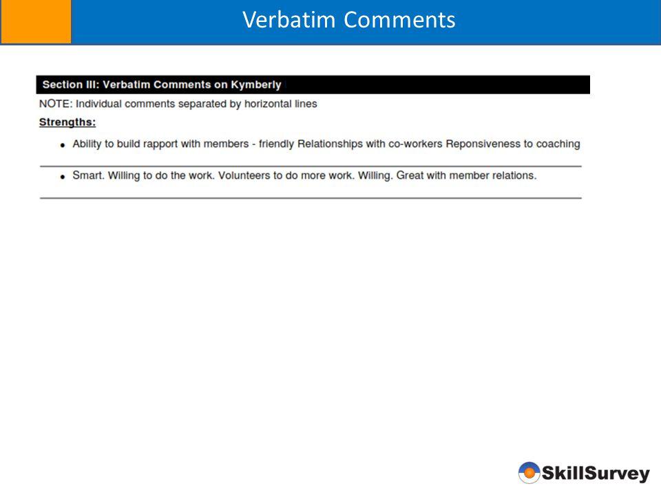 Verbatim Comments