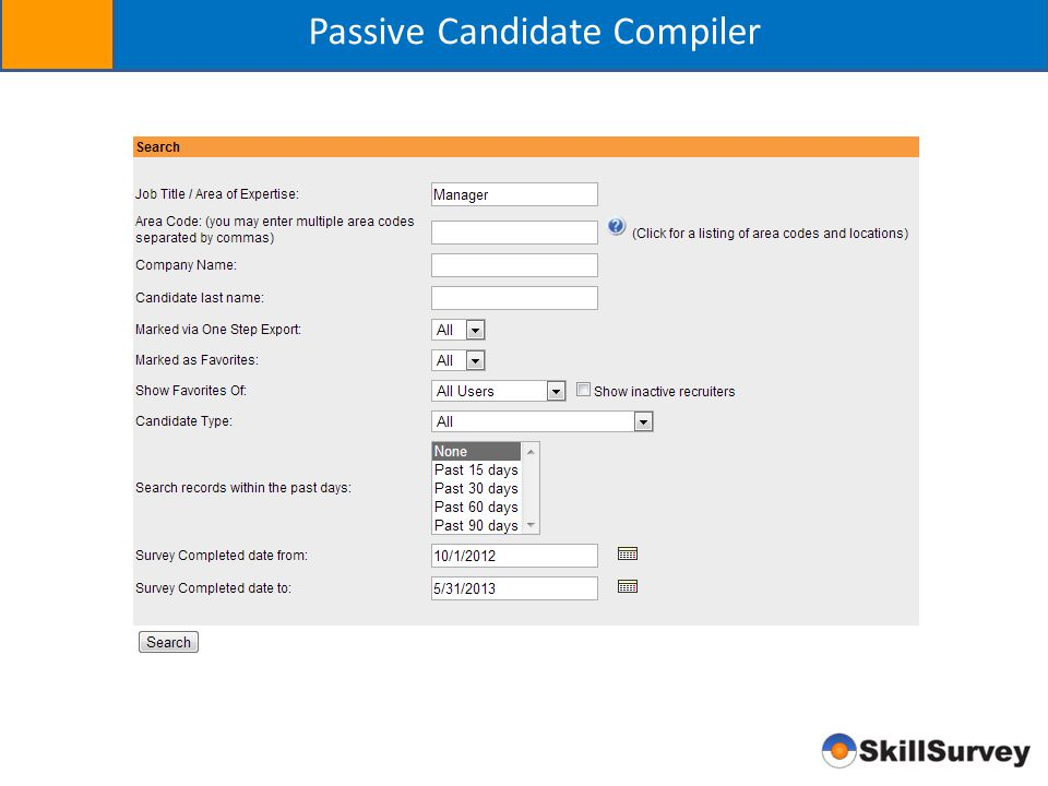 Passive Candidate Compiler
