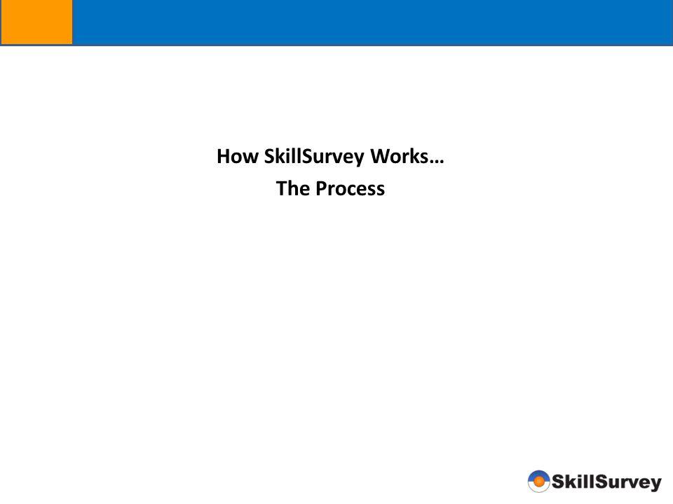 How SkillSurvey Works… The Process