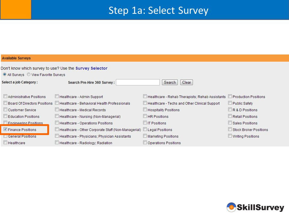 Step 1a: Select Survey and Send Candidate Email Send email to candidate
