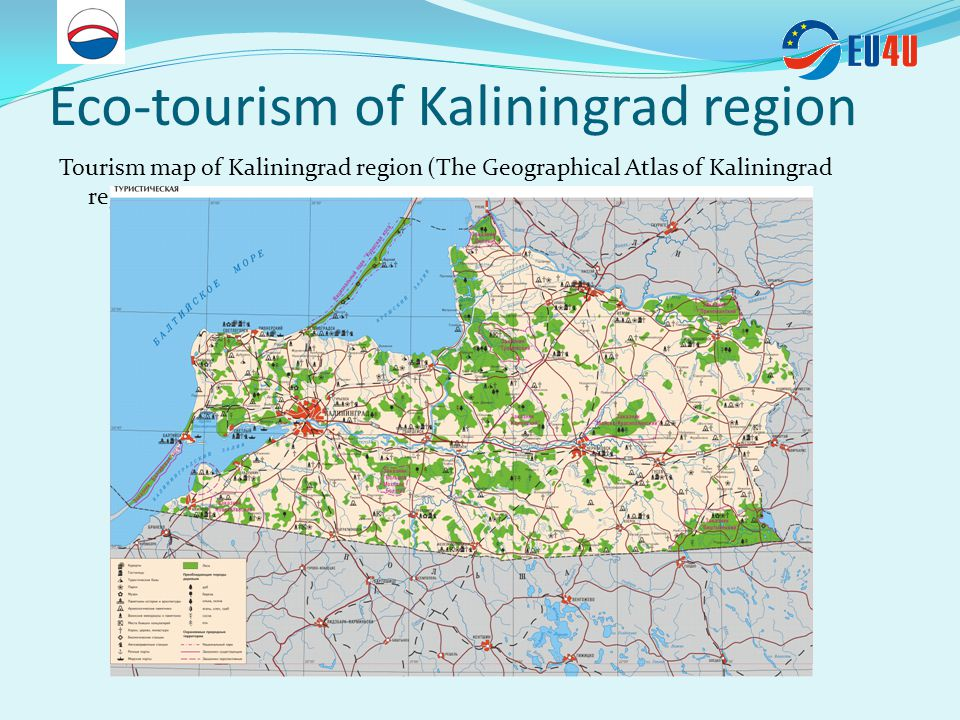 Eco-tourism of Kaliningrad region Main eco-tourism sites: National Park Curonian Spit Protected area Vistula spit Protected area Ramintanskaja Pushcha (includes the area of the Russian part of Vishtynets and the Red forest ) Polessk municipality area Ozersk municipality area Nesterov municipality area Yantarny municipality area Pionersk municipality area Curonian and Vistula lagoon area Federal resorts Zelenogradsk and Svetlogorsk