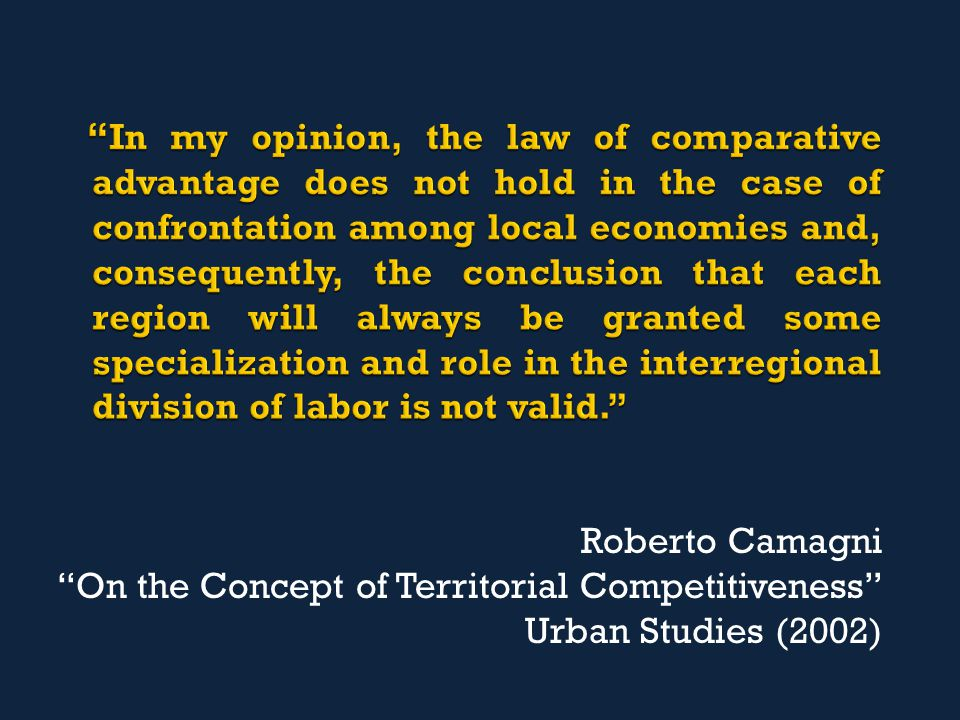 "Roberto Camagni ""On the Concept of Territorial Competitiveness"" Urban Studies (2002)"