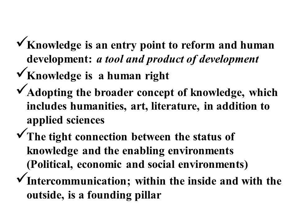 The Arab Region and the Aspired Knowledge Society
