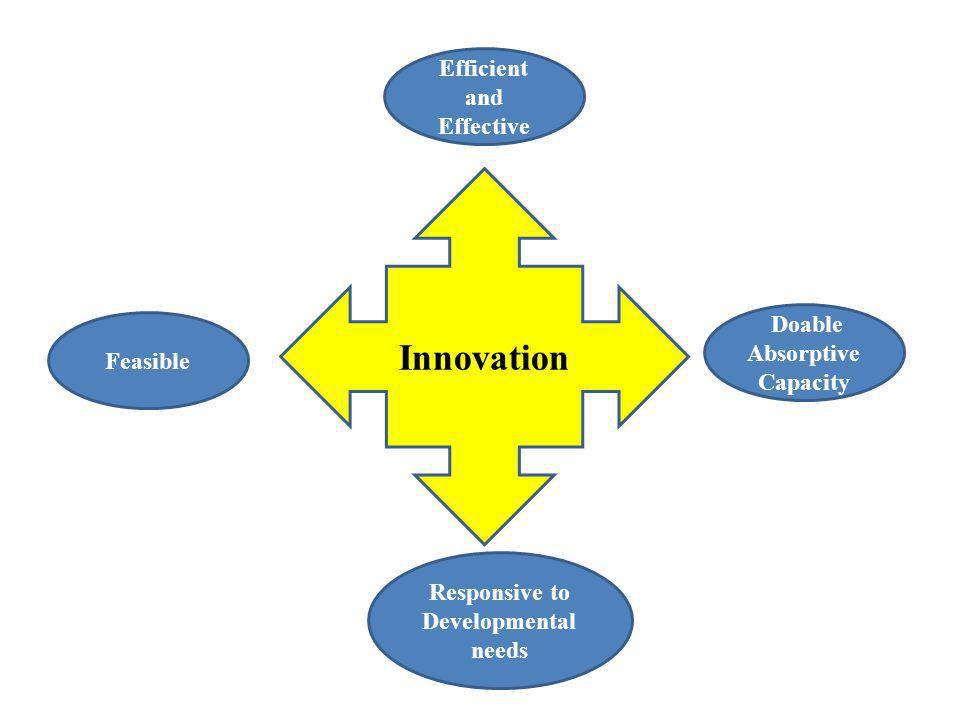 Innovation Doable Absorptive Capacity Responsive to Developmental needs Feasible Efficient and Effective