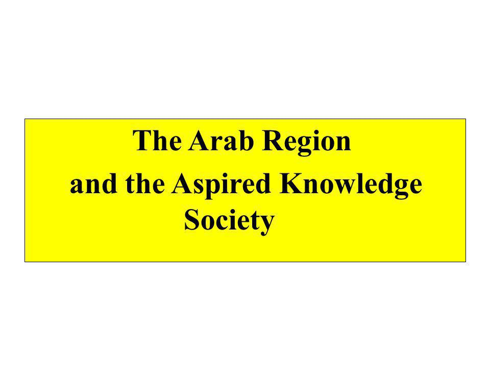 Spending on scientific research in the Arab region is among the least worldwide (Ranging from 0 to 1 % of GDP, most of it depends on government funding with minimal involvement of the private sector ) Scientific publishing and patents...modest achievements Arab citizen's share in published books equals 4 per cent and 5 per cent of the share of British and Spanish citizens Loss of Arab human capital (brain drain)...the ultimate result of low incentives and high constraints (45% of Arab students who study abroad do not return to their home countries) Weak link between innovation and production/development