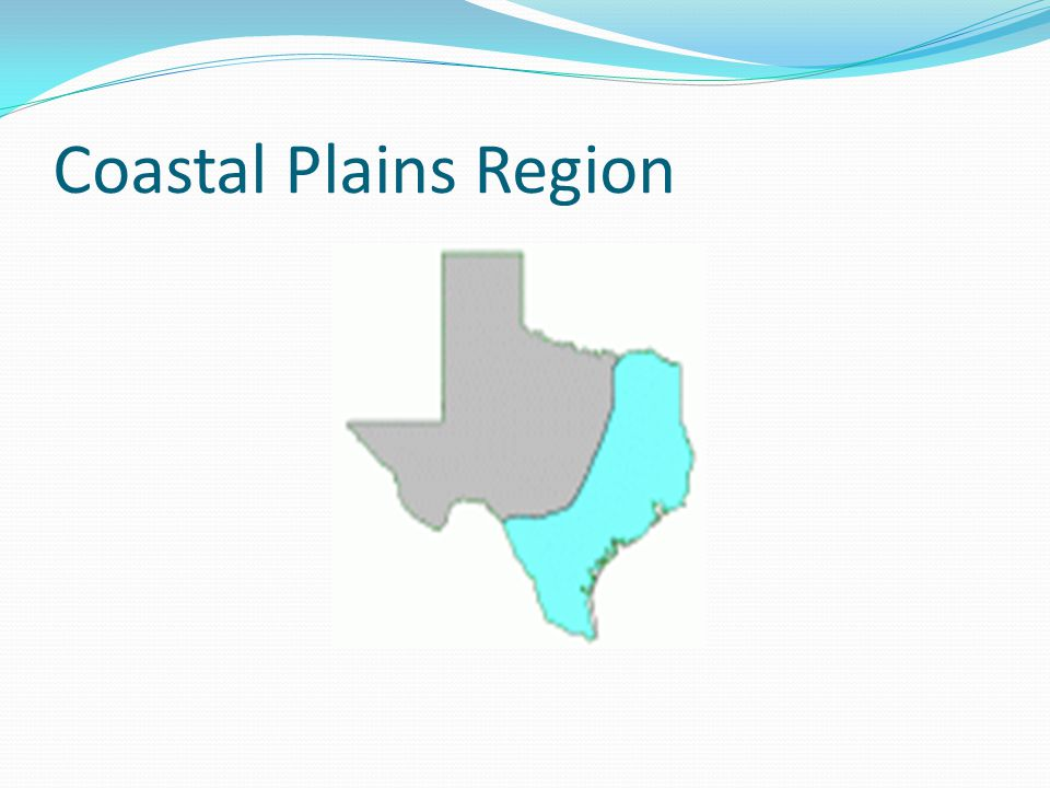 Location of Coastal Region Covers 1/3 of the land of Texas Northeast border is the Sabine River Southeast border is the Gulf of Mexico West border is the Balcones Escarpment