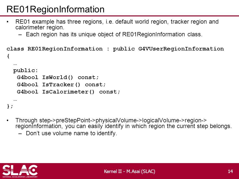 RE01RegionInformation RE01 example has three regions, i.e.