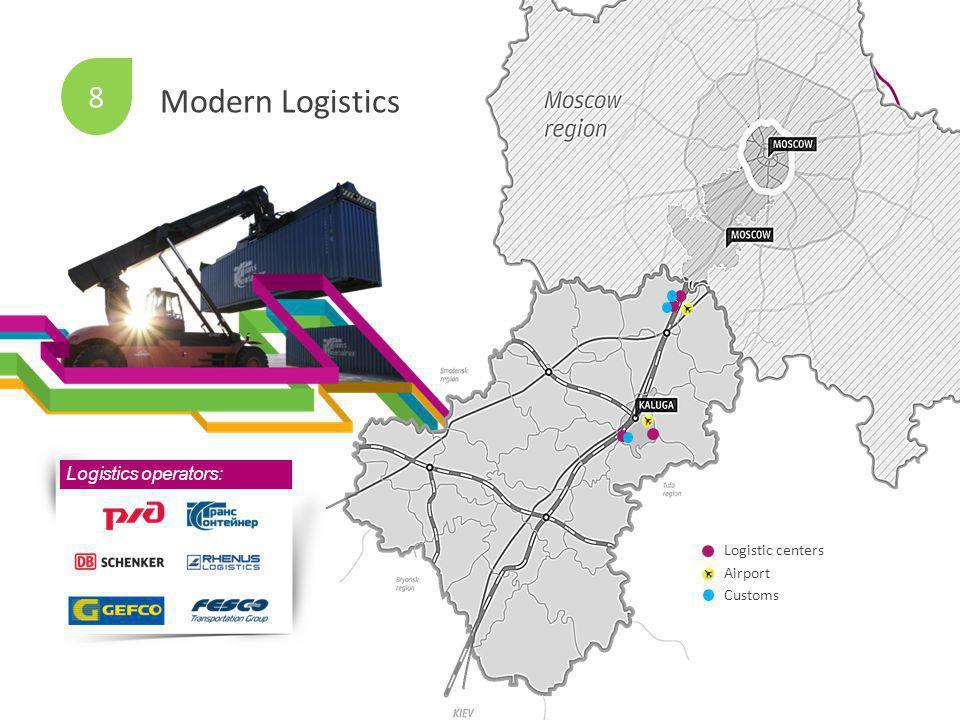 Logistics operators: Logistic centers Airport Customs 8 Modern Logistics