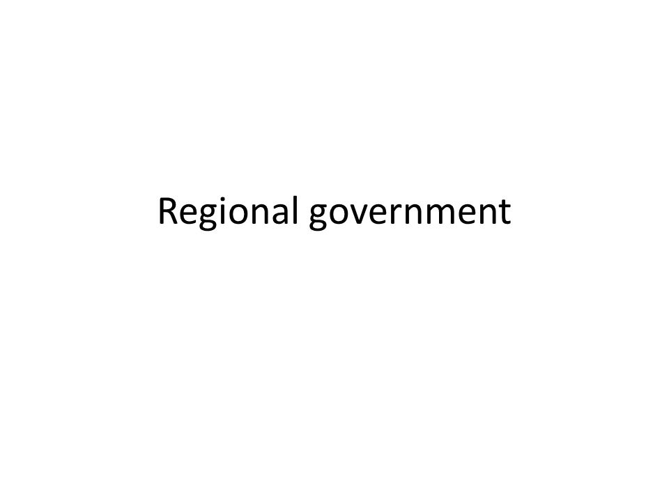 Regional government