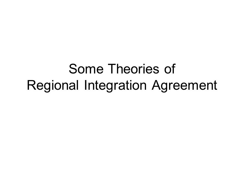 Stages of Economic Integration (five stages according to Balassa) Free Trade Area (FTA) –starting point –rules of origin Customs Union –common external tariffs Common Market –movement of capital and labor Economic Union –coordination of fiscal and monetary policy Complete Economic Union –super-natural institution