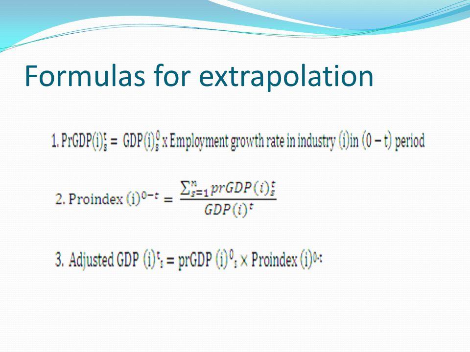 Formulas for extrapolation