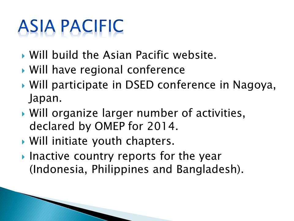  Will build the Asian Pacific website.