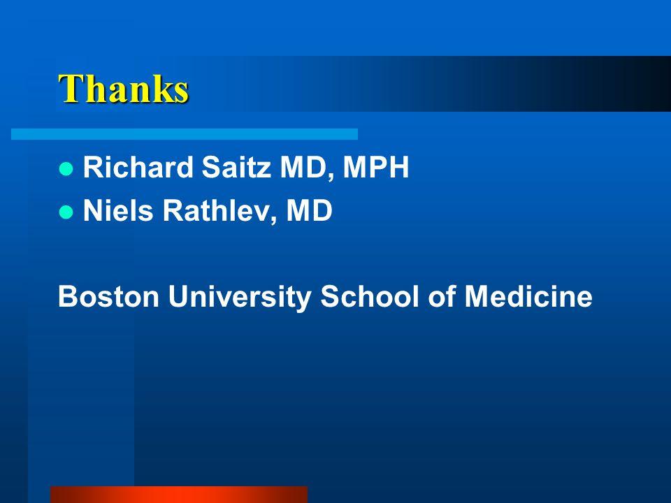 Thanks Richard Saitz MD, MPH Niels Rathlev, MD Boston University School of Medicine