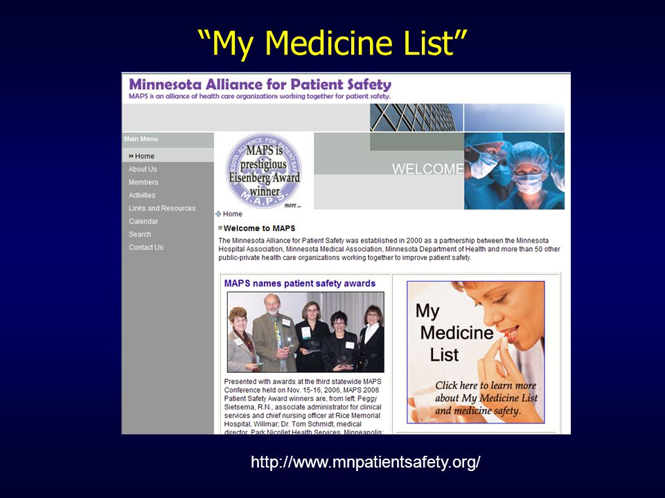 My Medicine List http://www.mnpatientsafety.org/