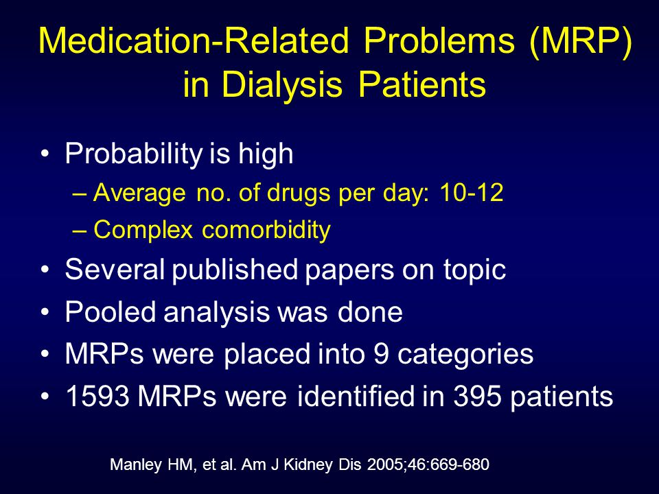 Similar Findings from another Canadian MDC Goldstein M, et al. Am J Kidney Dis 2004; 44:706-714.