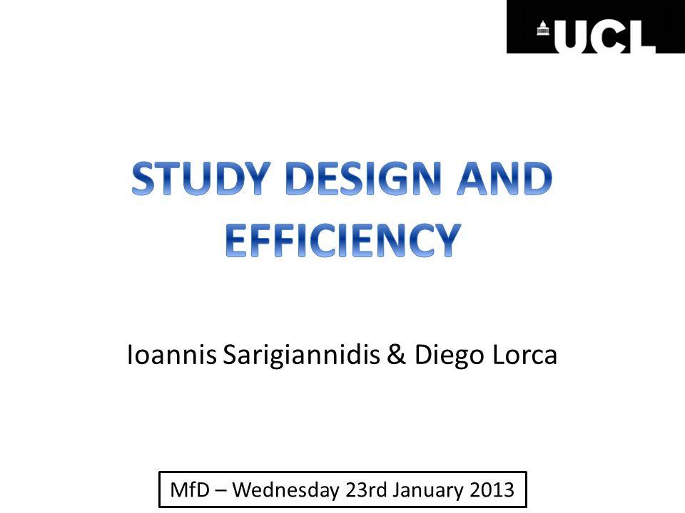 MfD – Wednesday 23rd January 2013 Ioannis Sarigiannidis & Diego Lorca