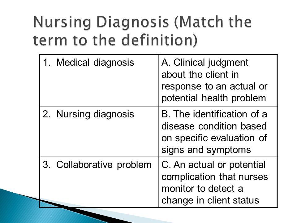 1. Medical diagnosisA.