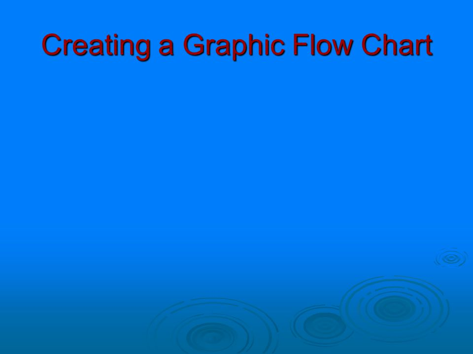 Creating a Graphic Flow Chart