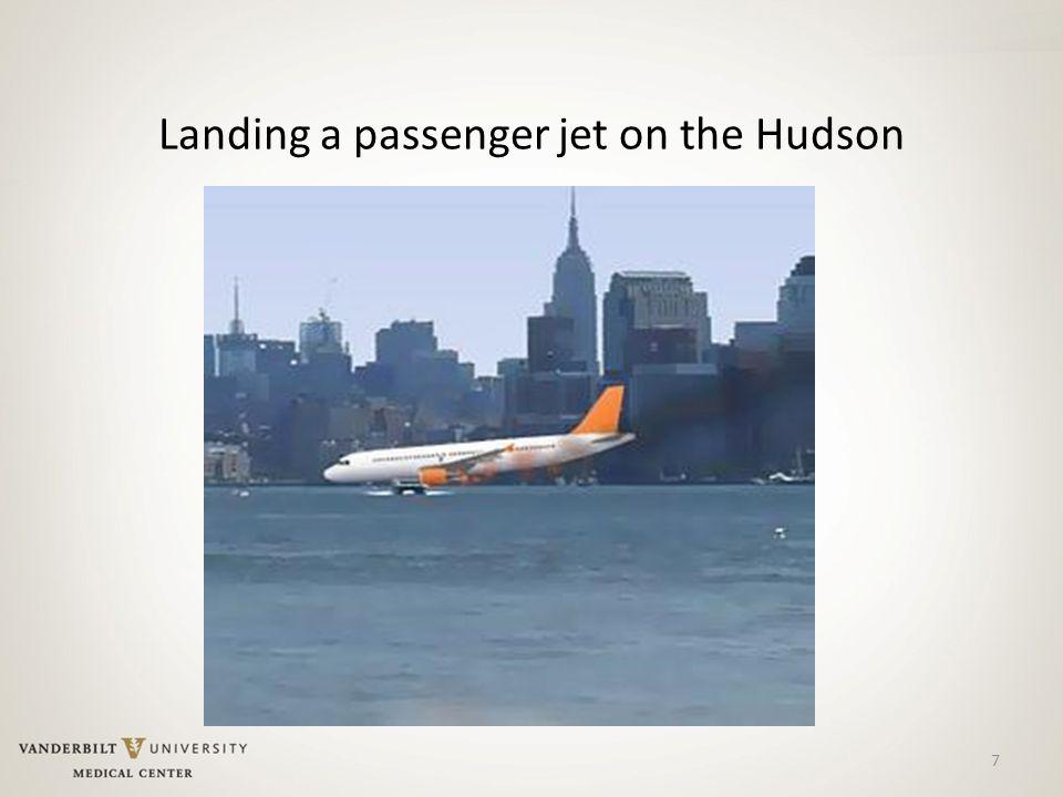 7 Landing a passenger jet on the Hudson