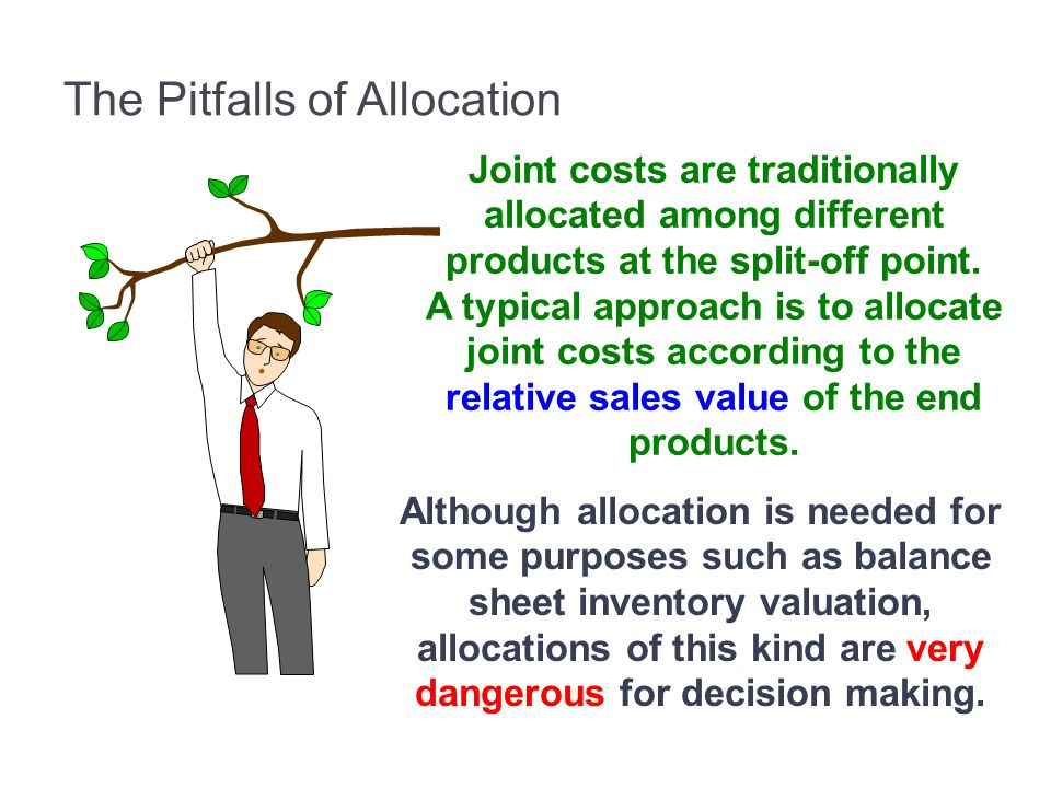 The Pitfalls of Allocation Joint costs are traditionally allocated among different products at the split-off point.