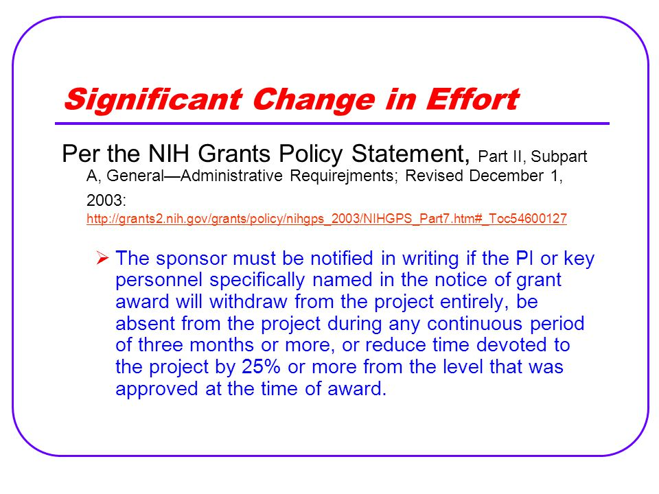 The Impact of Non-Compliance DateInstitutionSettlementReason February 2003Northwestern University $5.5MResearchers spent less time on NIH sponsored projects than they reported.