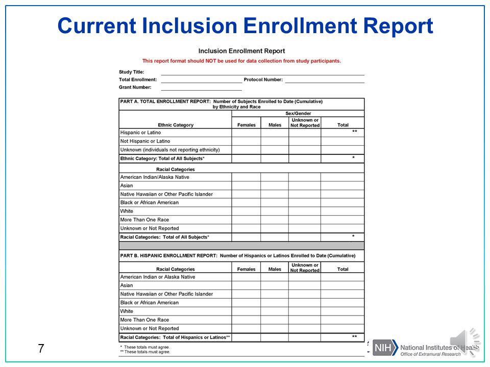 Current Inclusion Enrollment Report 7