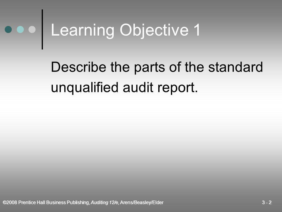 ©2008 Prentice Hall Business Publishing, Auditing 12/e, Arens/Beasley/Elder 3 - 23 Materiality A misstatement in the financial statements can be considered material if knowledge of the misstatement would affect a decision of a reasonable user of the statements.
