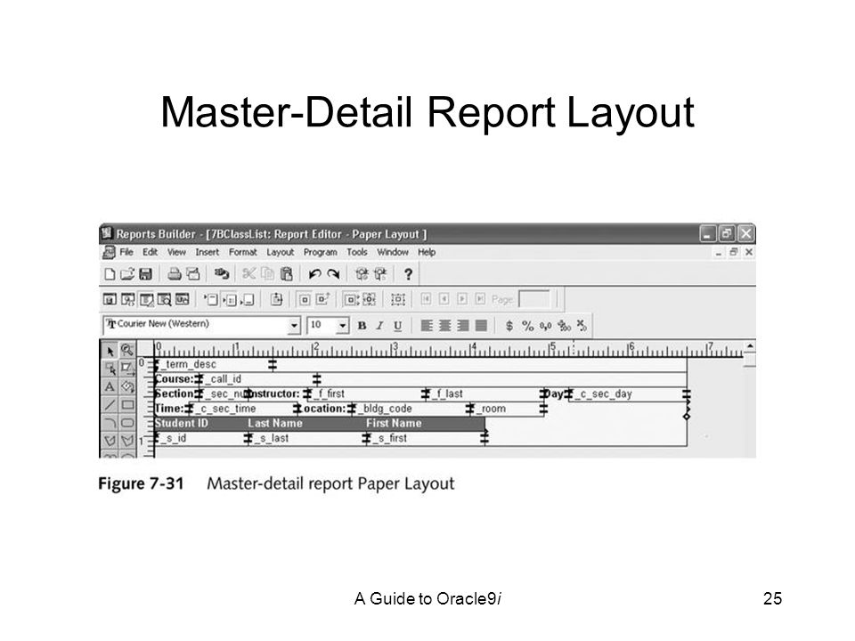A Guide to Oracle9i25 Master-Detail Report Layout