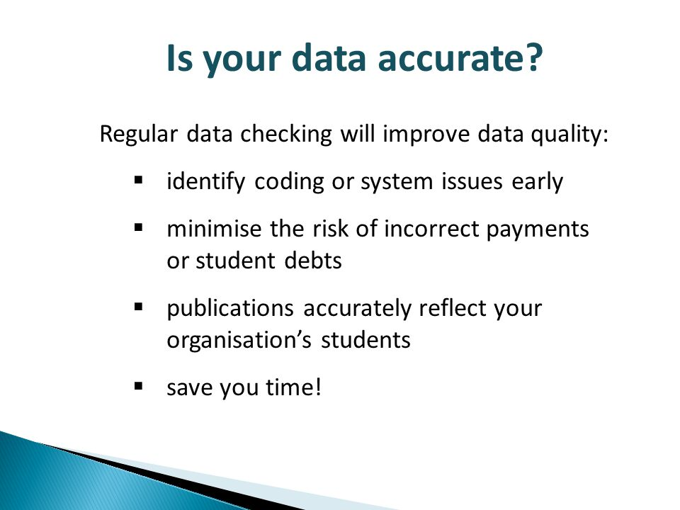 Is your data accurate.