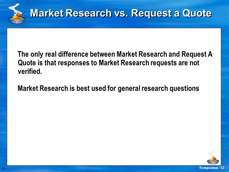 6 Symposium '12 Market Research vs.