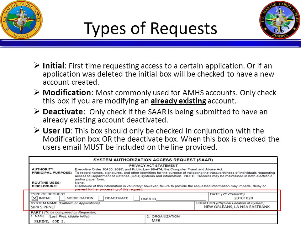 Requestors Information 10  Boxes 1 – 13 Box 26 must be completely filled out by the user.