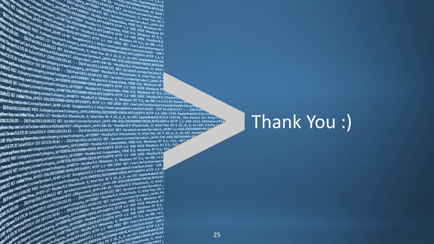 Copyright © 2011, Splunk Inc.Listen to your data. 25 Thank You :)