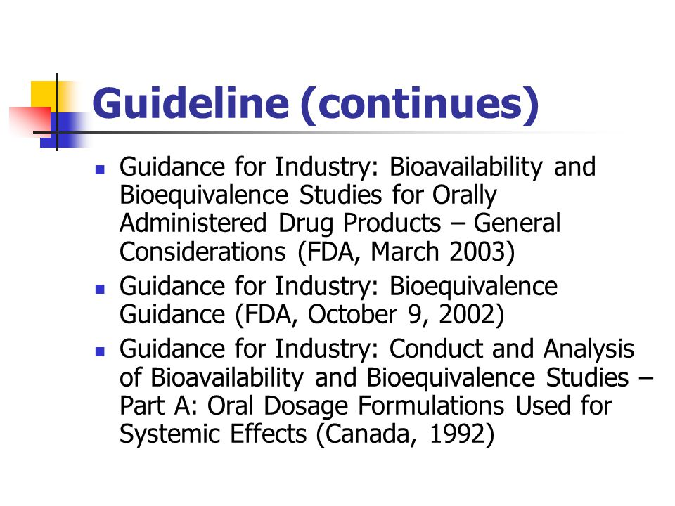 Bioequivalence study is not needed The product is a parenteral solution aqueous intravenous solution containing same active substance in the same concentration aqueous or oily intramuscular or subcutaneous solution containing same active substance and same comparable excipients gas for inhalation
