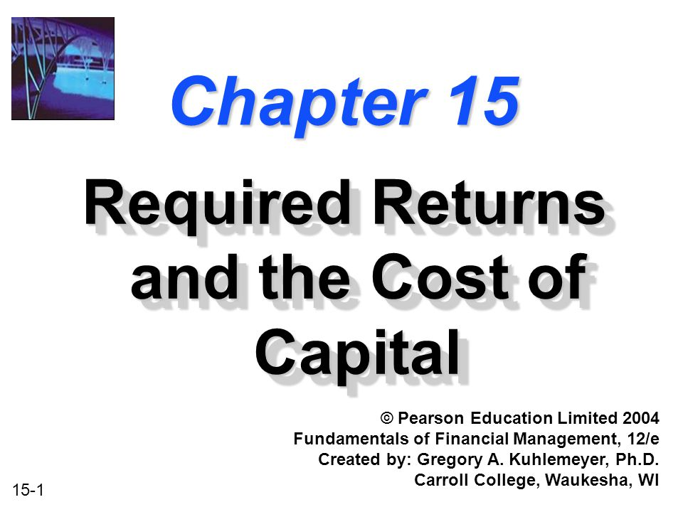 15-32 1.Calculate the required return for Project k (all-equity financed).
