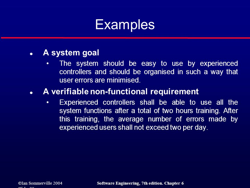 ©Ian Sommerville 2004Software Engineering, 7th edition. Chapter 6 Slide 21 Requirements measures