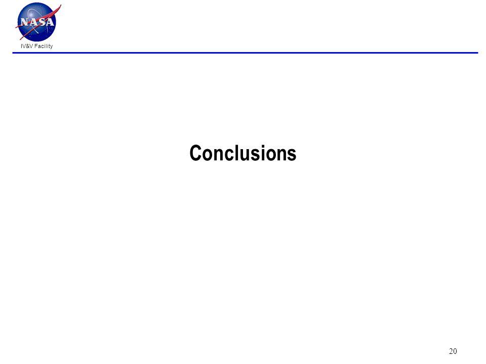 IV&V Facility Conclusions 20