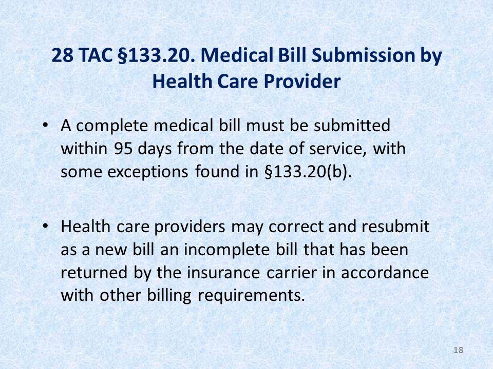 28 TAC §133.20.