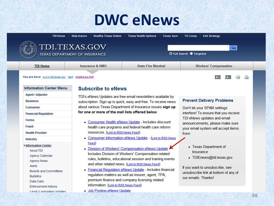 DWC eNews 56