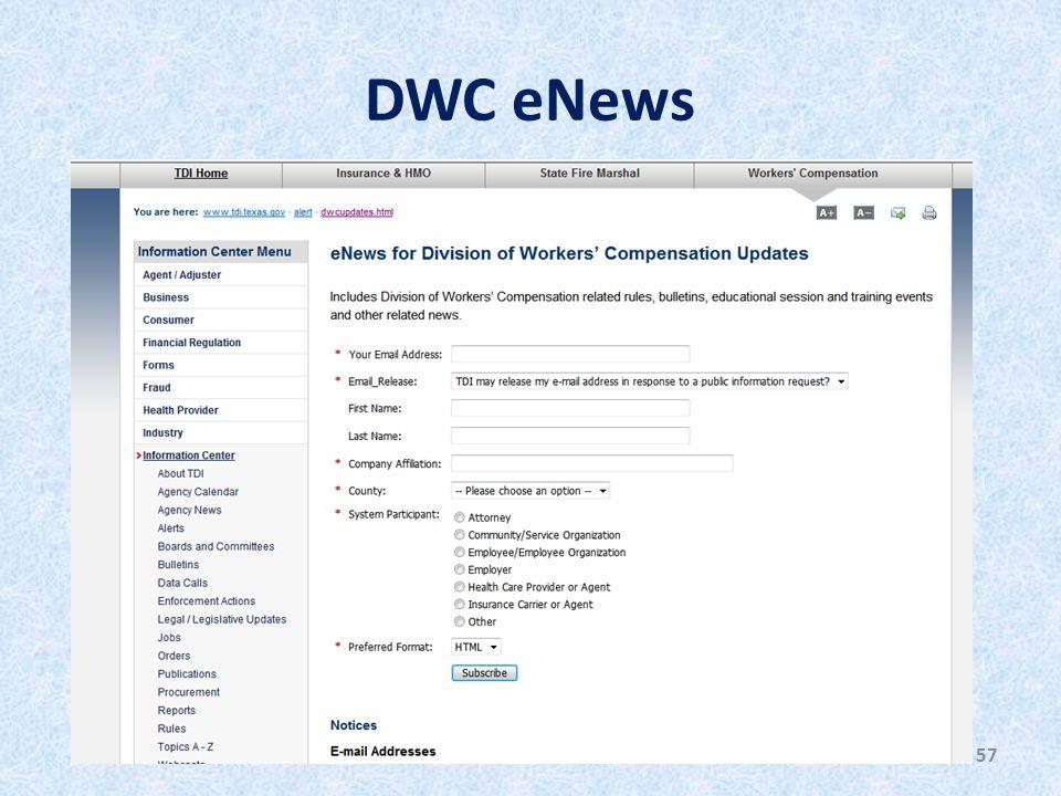 DWC eNews 57