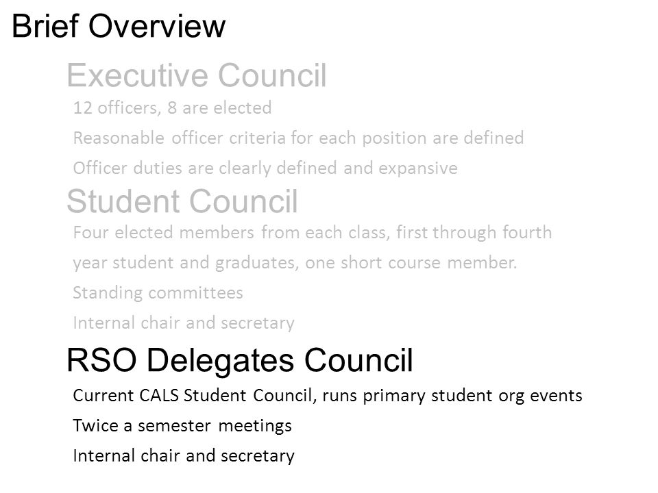Quick Benefits Potential for larger student representation org head count ~700 class + org rep ~1600+ Larger organization with defined tasks and roles for members