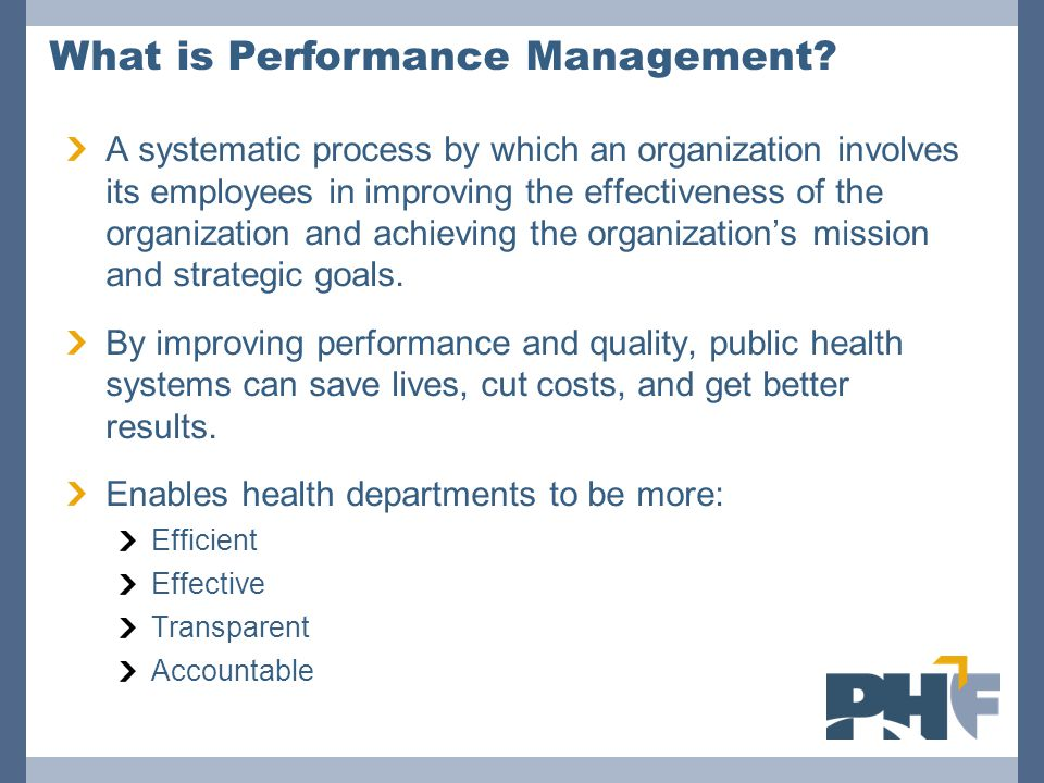 A systematic process by which an organization involves its employees in improving the effectiveness of the organization and achieving the organization's mission and strategic goals.