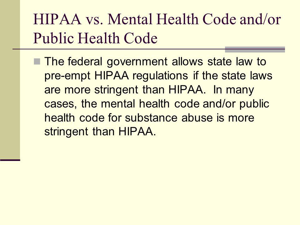 HIPAA vs.