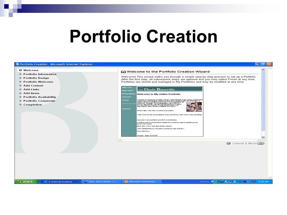 Portfolio Creation