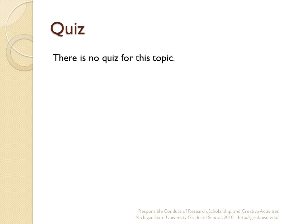 Quiz There is no quiz for this topic.