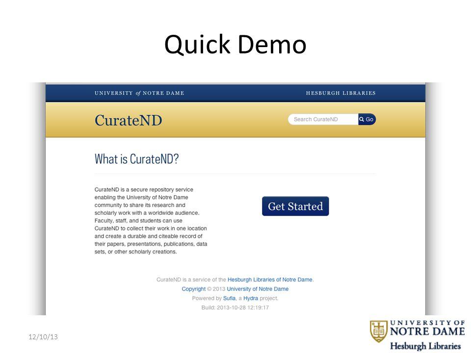 Quick Demo 12/10/13