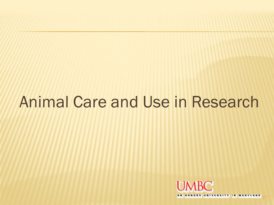 Animal Care and Use in Research 27